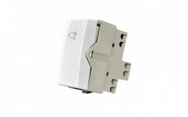 Interruptor Pulsador c/ Campainha- Branco