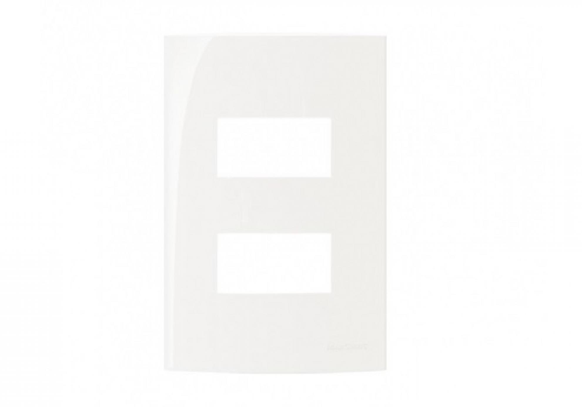 Placa 4X2 2 Postos Separados - Branco