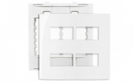 Placa 4X4 4 Postos Separados - Branco