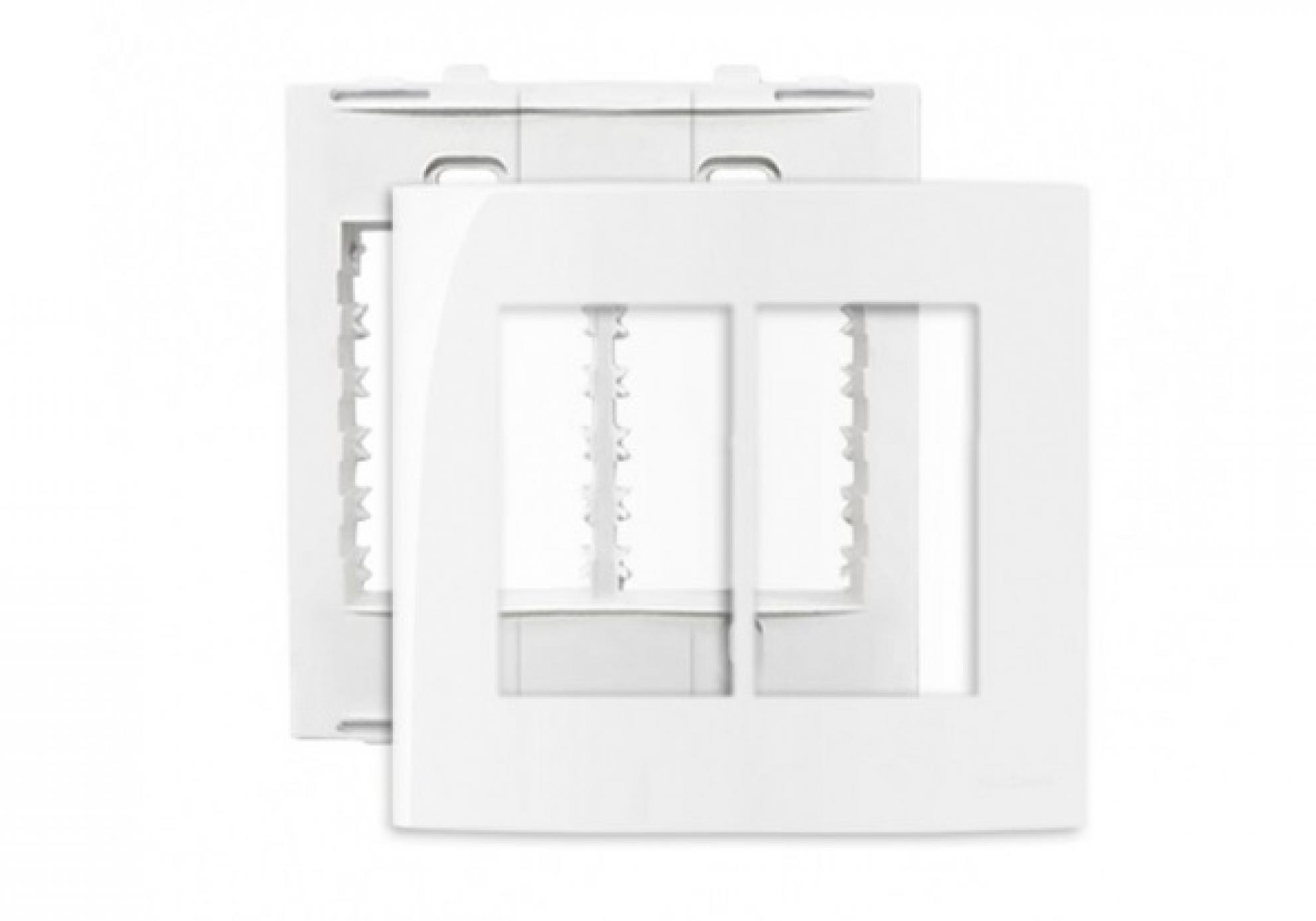 Placa 4X4 6 Postos + Suporte - Branco