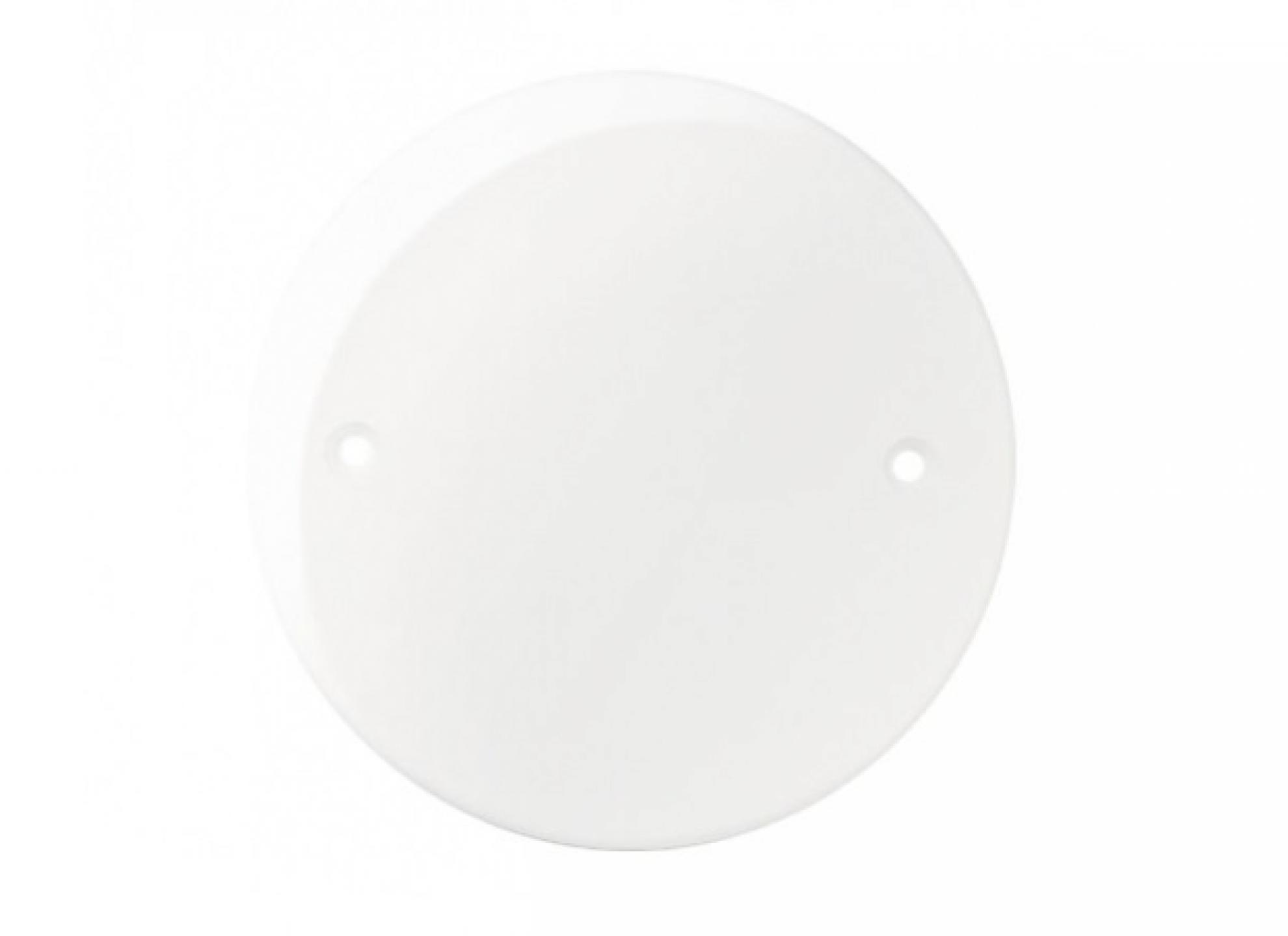 Placa Redonda 4 polegadas - Branco