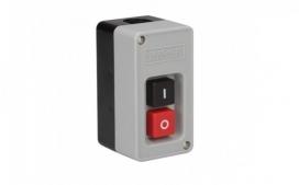 Interruptor de Tecla Bipolar 20A - preto/vermelho