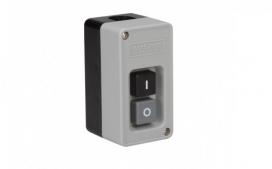 Interruptor de Tecla Bipolar 30A - preto/cinza