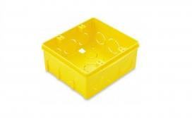 Caixa Plastica Embutir 4x4 para Drywall - Amarelo