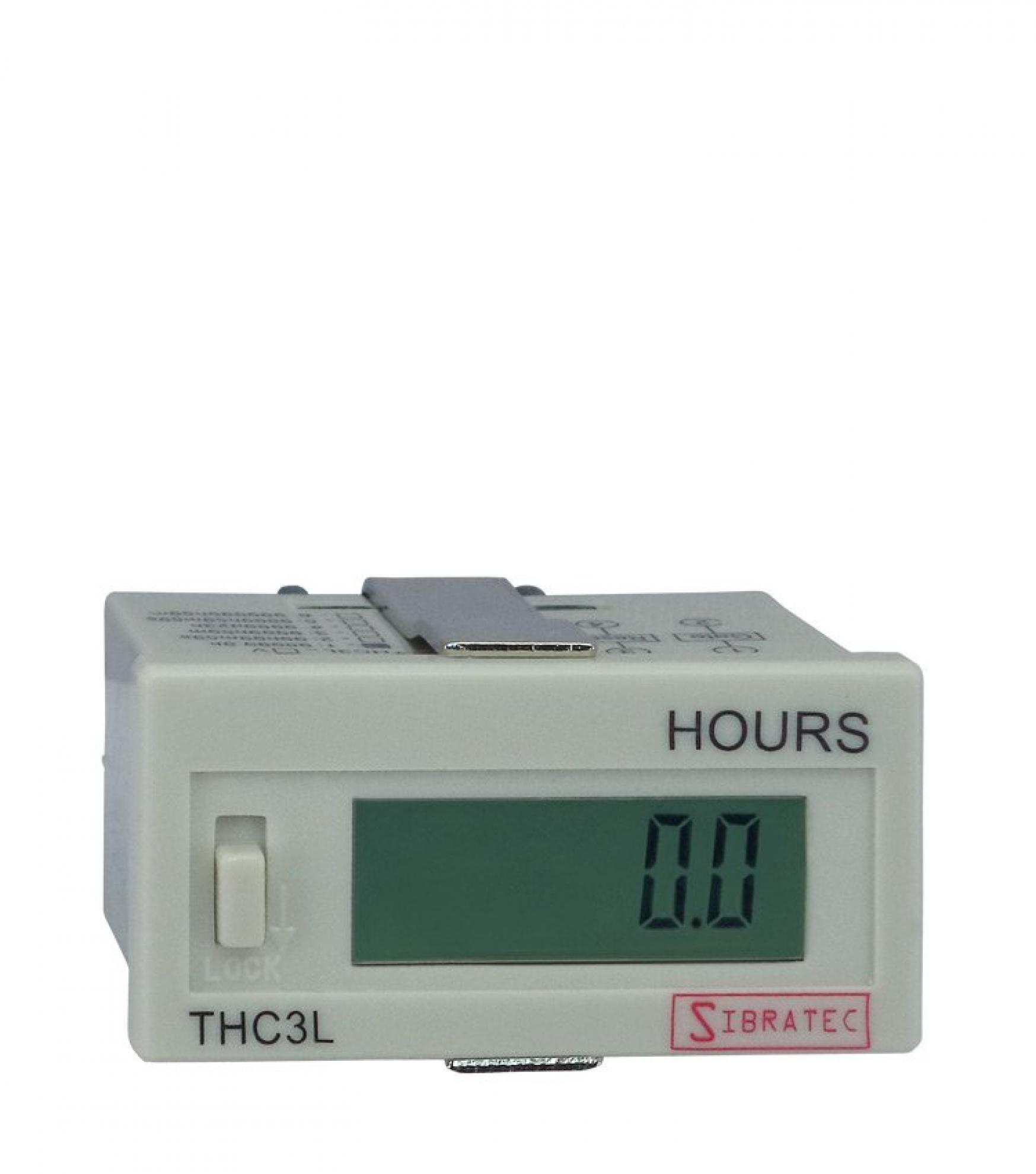 Hor�metro D�gital THC3L - Gatilho Contato Seco - Escala 99999,9 Horas - Tamanho 21,8 x 44,5mm