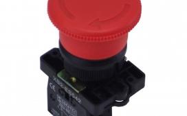 Bot�o de Emerg�ncia ES-542 Pl�stico Vermelho Com Trava (Gira para Soltar) 1NF
