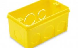 Caixa Pl�stica embutir 4x2 Retangular - Amarela
