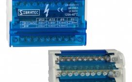 Bloco de Distribui��o Modular com 4 Barramentos X 11 Liga��es - 125A - Fixa��o Trilho DIN (S112-04)
