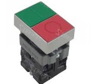 Bot�o Duplo Liga/Desliga Sem Ilumina��o Quadrado Met�lico BL8325 1NA+1NF