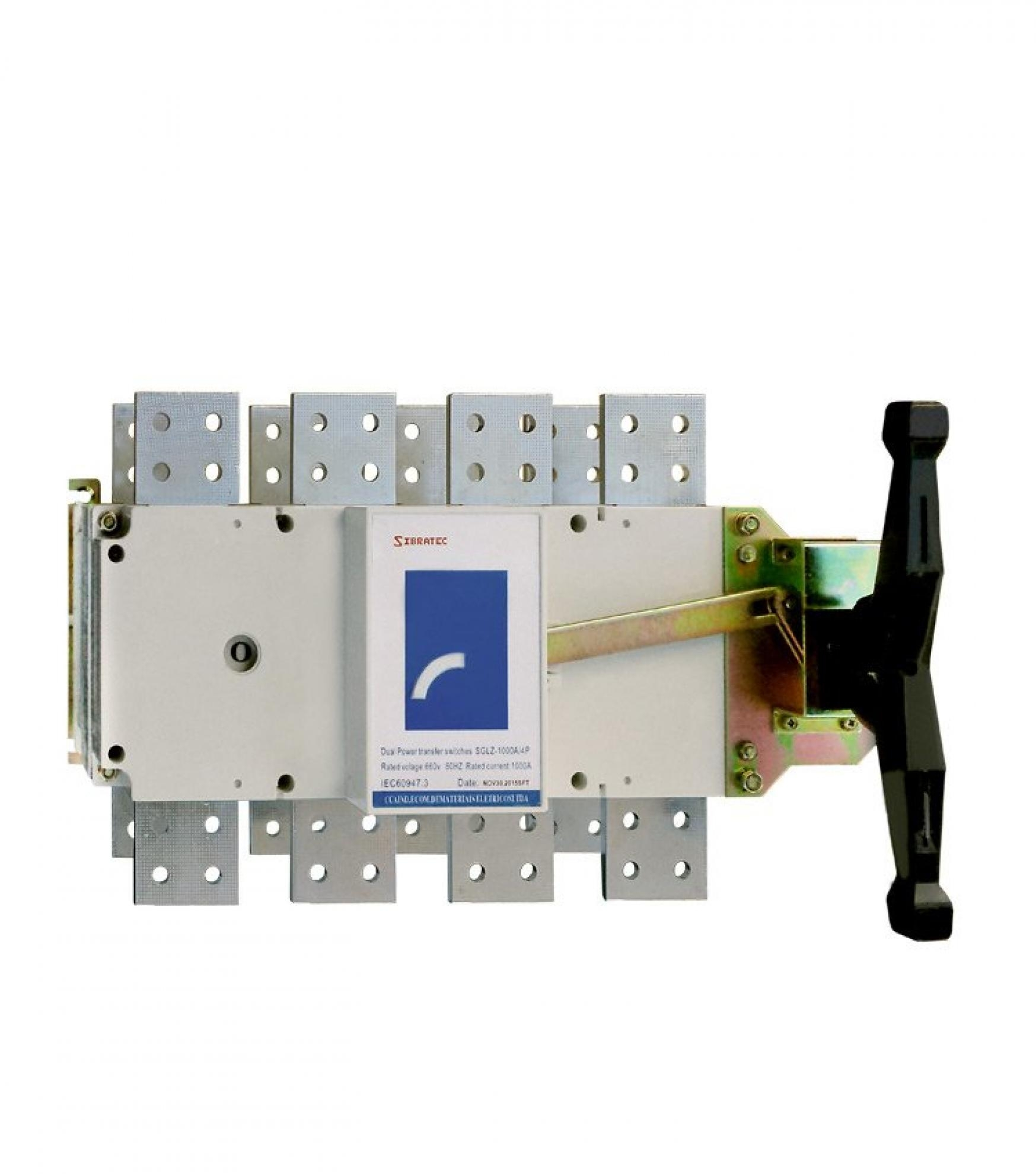 Chave de Transfer�ncia Rede/Gerador SGLZ4 1000A - Tetrapolar - com 3 Posi��es - Haste com 30cm