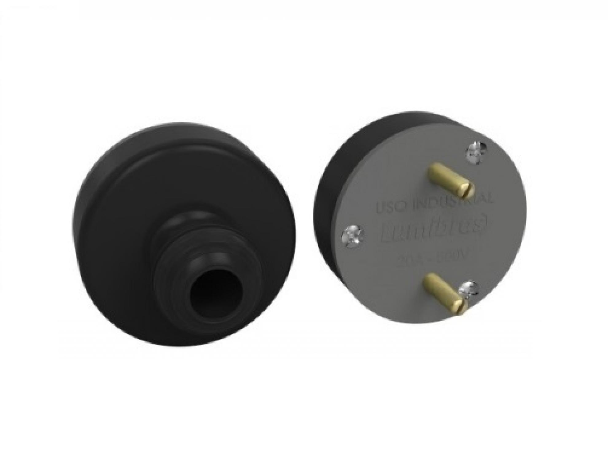 Plugue nylon 2x30A flecha - Com fibra