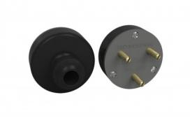 Plugue nylon 3x20A flecha - Com fibra