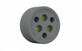 Tomada 3x20A ~500V Nylon com Fibra Cinza