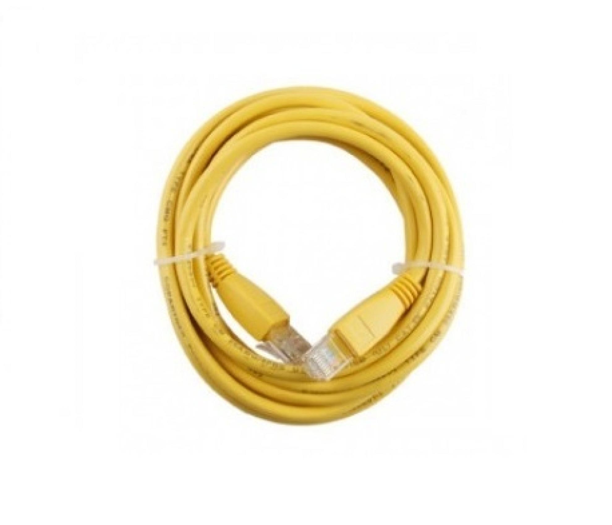 Patch cord U/UTP cat. 5E CM-T568A - 1,5m Amarelo