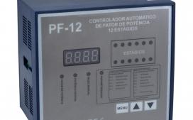 Controlador de Fator de Pot�ncia Trif�sico 12 Est�gios PF12 220V - Alimenta��o: Mono: 220V Fase/Neutro