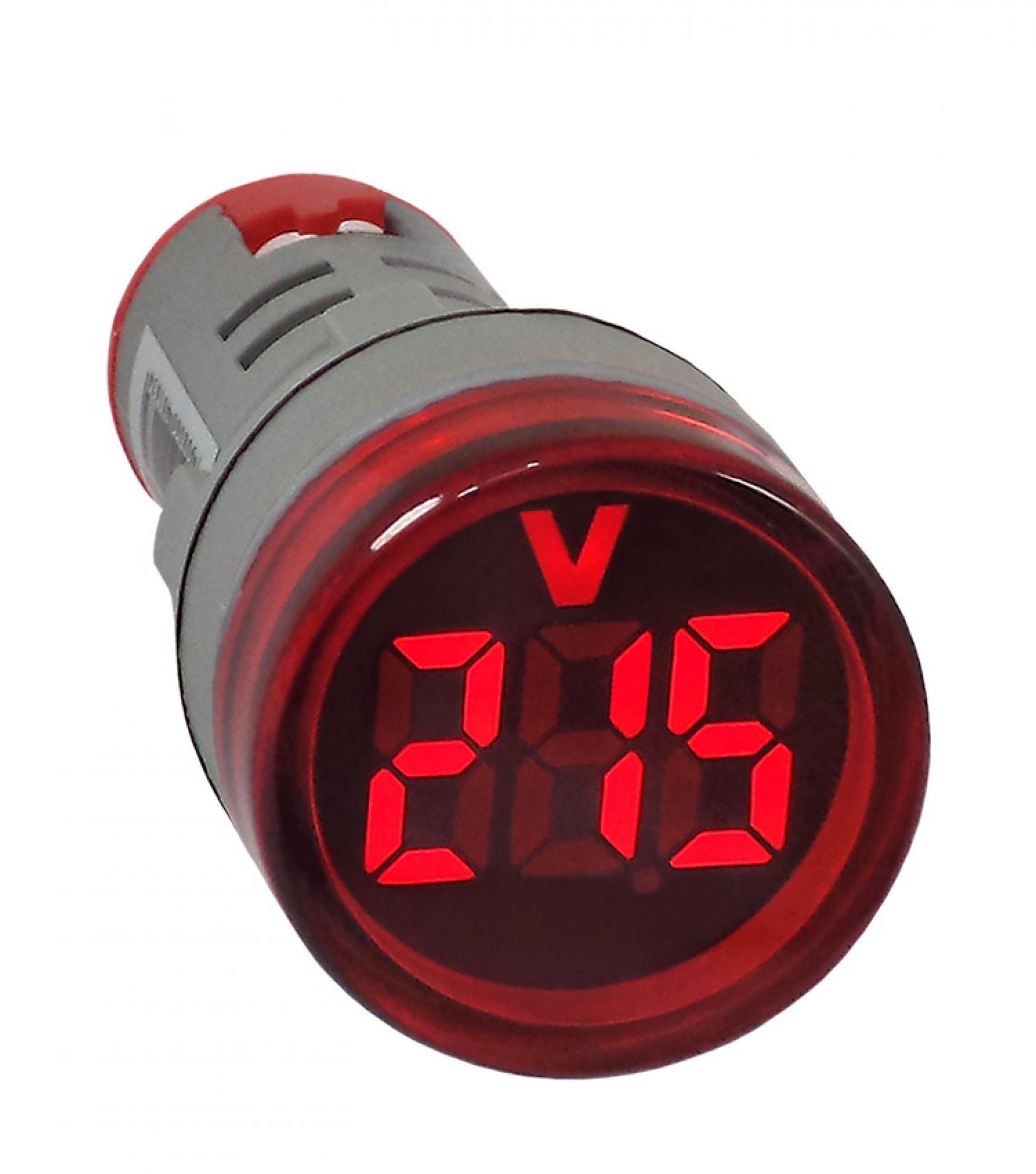 Volt�metro Digital 22mm Vermelho de 20-500Vca - AD22-22VS-R