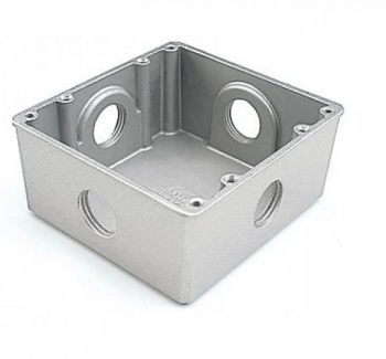 "Caixa Piso Aluminio 4X4 Baixa 1"""