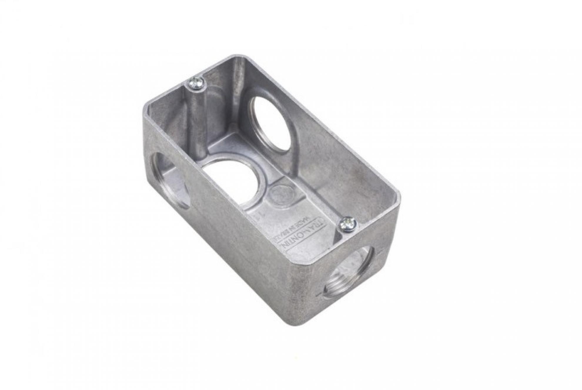 Condulete Aluminio Multiplo L 1.1/2 com tampa