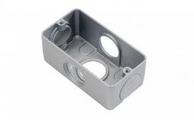 Condulete Aluminio Multiplo X 2