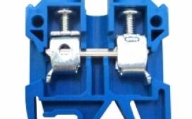 Borne Sak Neutro JUT2-4BL para cabo 4mm� Azul