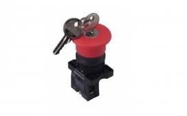 Bot�o Emerg�ncia - Com chave 1NF XB2-ES142