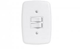 Interruptor de 2 tecla Simples 4x2
