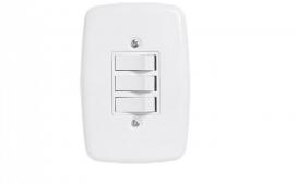 Interruptor de 3 tecla 4x2- Simples