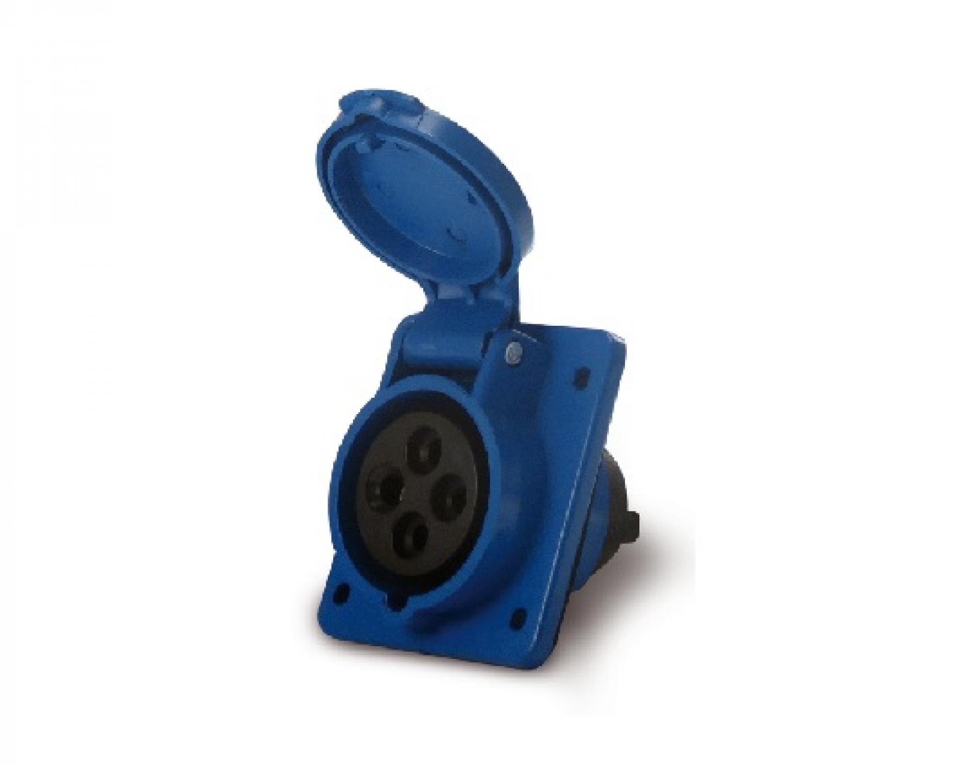 Tomada industrial embutida 3P+T 16A - 220V