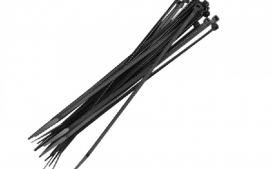Abra�adeira nylon 400x4  8MM - Preto