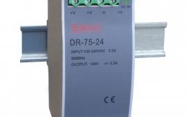 Fonte Chaveada DR-75-24v para Trilho Din - Entrada 110/220Vca e Sa�da 24Vcc 75W 3,2A