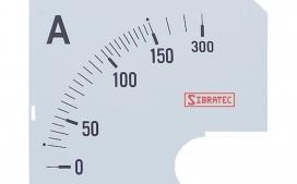 Escala para Amper�metro Anal�gico 150A - 72x72mm