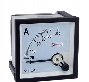 Amper�metro Anal�gico 72x72mm Medi��o Direta 100A