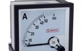 Amper�metro Anal�gico 72x72mm Medi��o Direta 50A