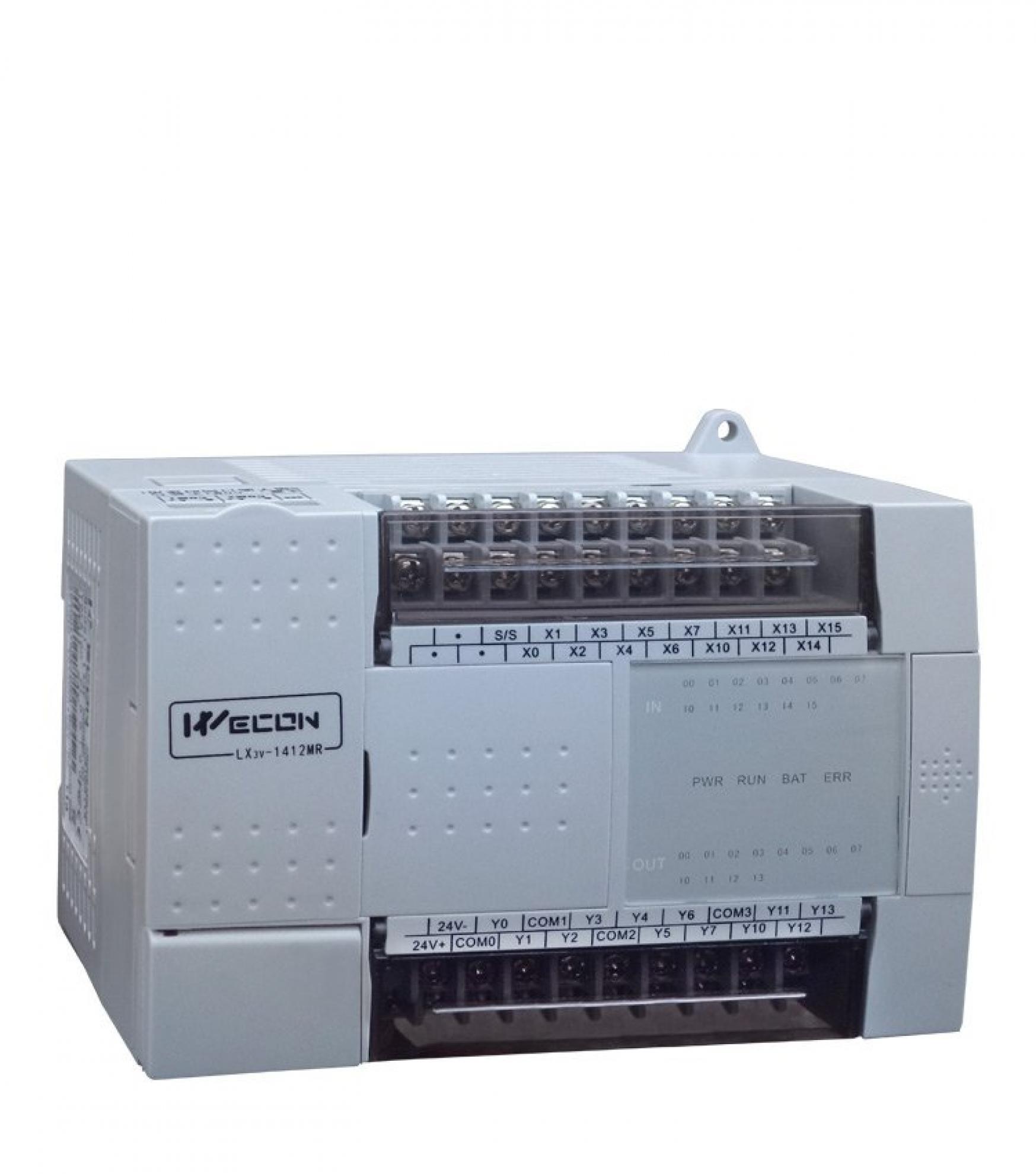 CLP Wecon LX3V 1412 MR-D - 14 Entradas Digitais + 10 Sa�das a rel� - Alimenta��o 24Vcc