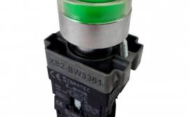 BOTAO COM 22,5 IMPULSO VERDE C/ LAMP 24V EA 31