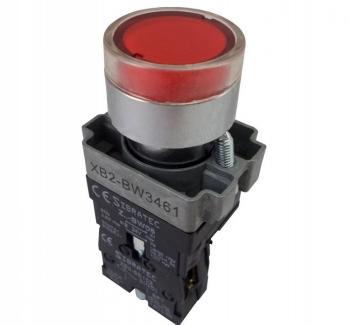 BOTAO COM 22,5 IMPULSO VERMELHO C/ LAMP 24V EA 21