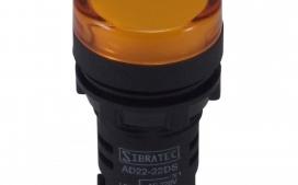 Sinaleiro LED AD22-Y2 Amarelo 24Vcc/Vca �22mm