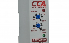 Rel� Monitor de Tens�o 220Vca - Ajuste M�nimo (180V~220V) - M�ximo (220V~260V)