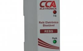 RELE ELETRONICO BIESTAVEL 10A CONT REVERSIVEL 220V