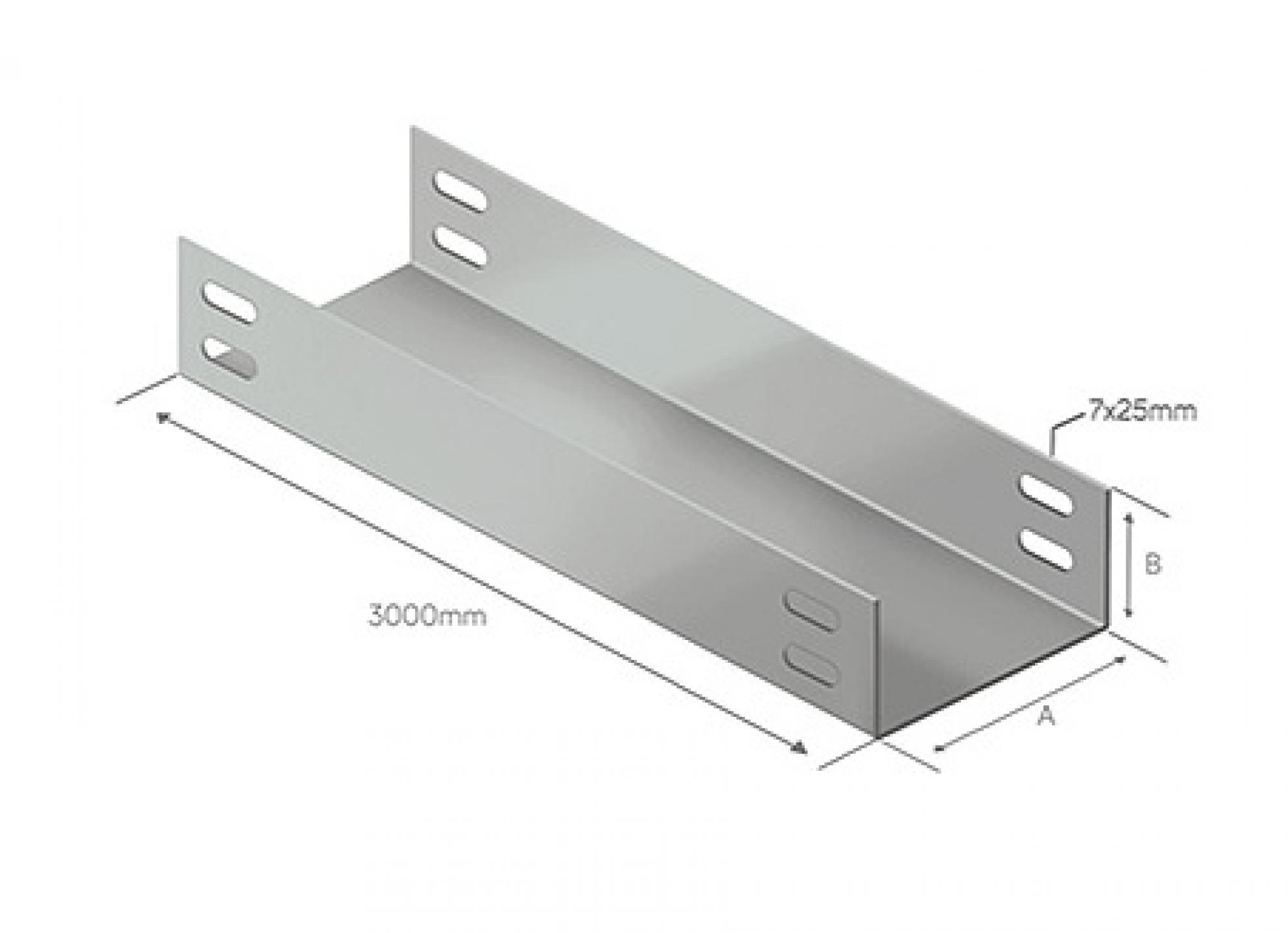 Eletrocalha lisa 300x50 - 3000MM