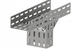 T� vertical descida lateral perfurado 100x100 - Zincado