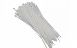 Abra�adeira nylon - Branca 300x4,5mm