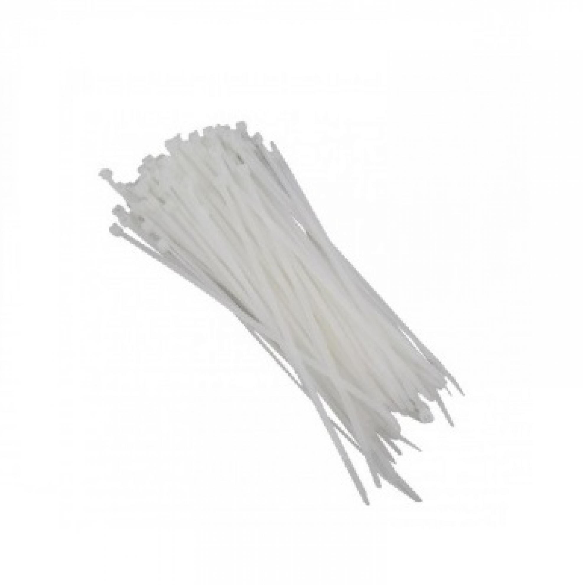 Abra�adeira nylon 400x4  8MM - Branco