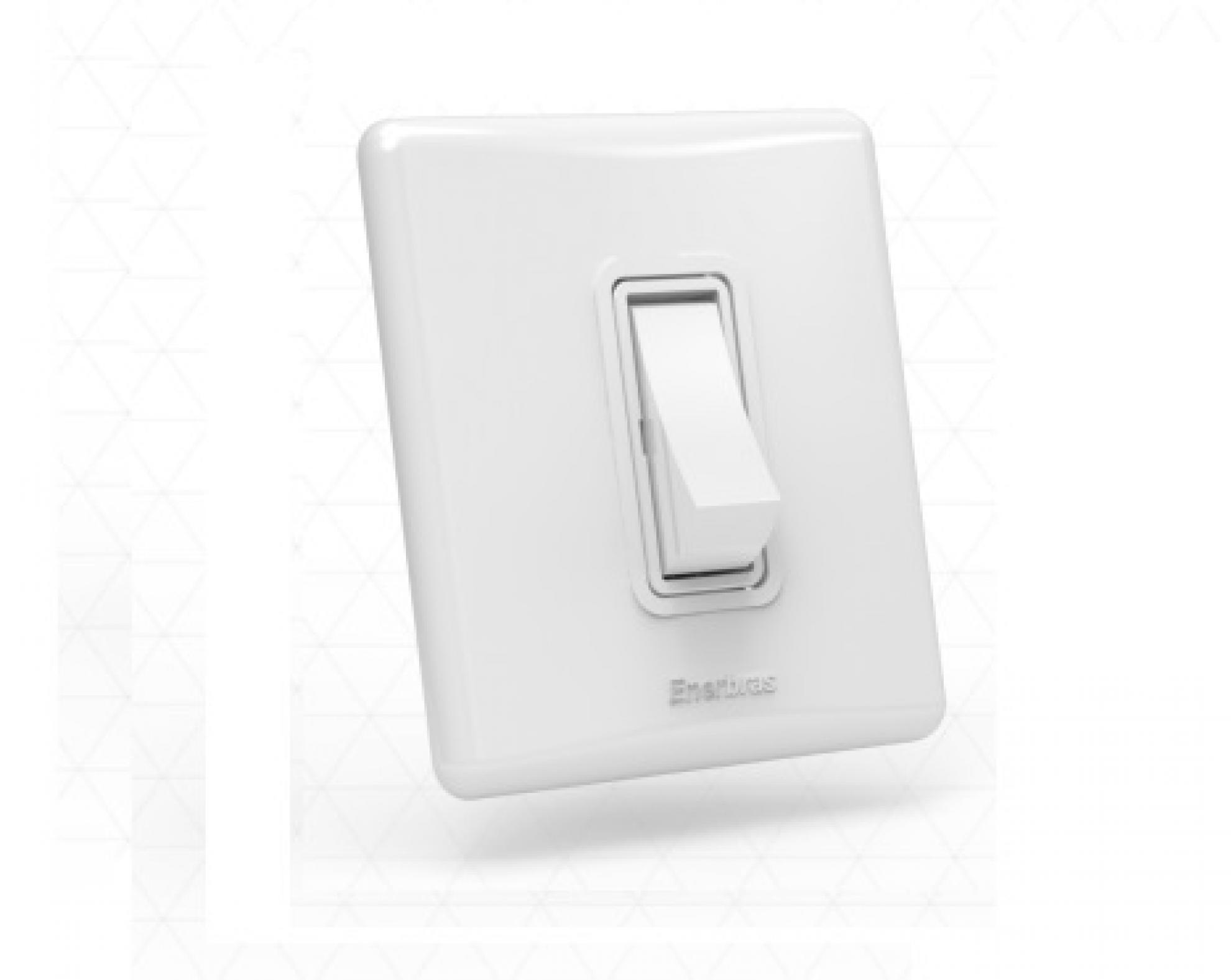 Interruptor com 1 tecla - Simples branco