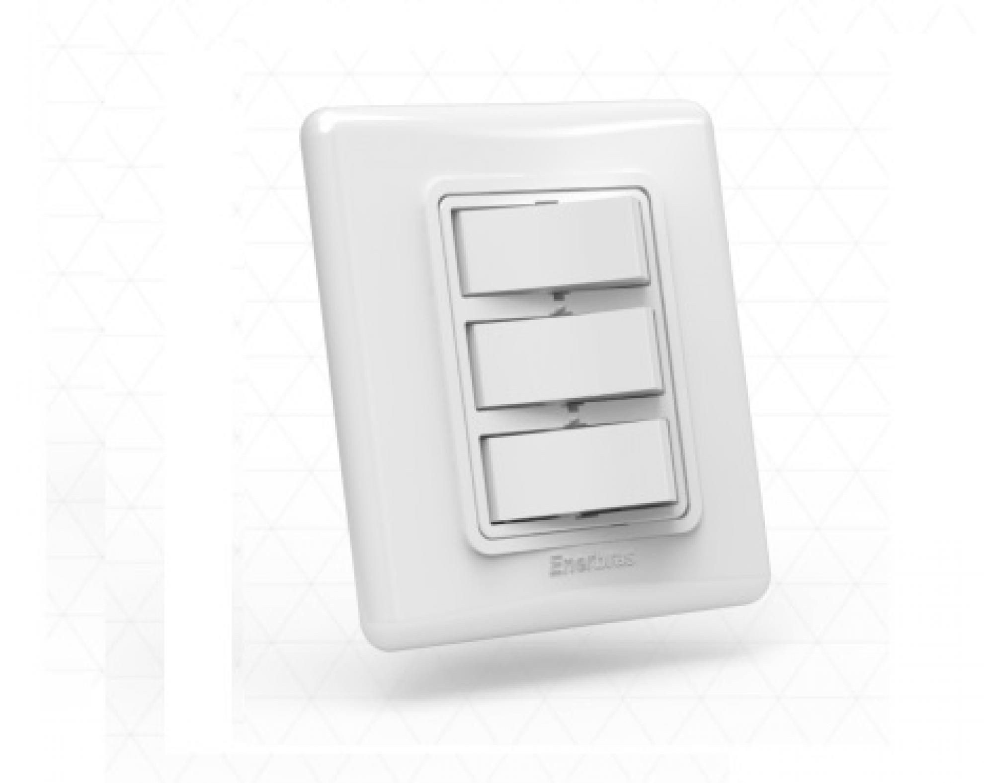 Interruptor com 3 teclas - Simples branco