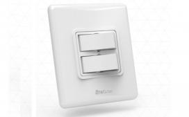 Interruptor com 2 teclas -  Paralelo branco