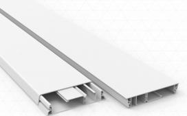 Canaleta 110x20 mm - Fechada branco