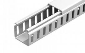 Canaleta 80x80 Semi aberta - Cinza