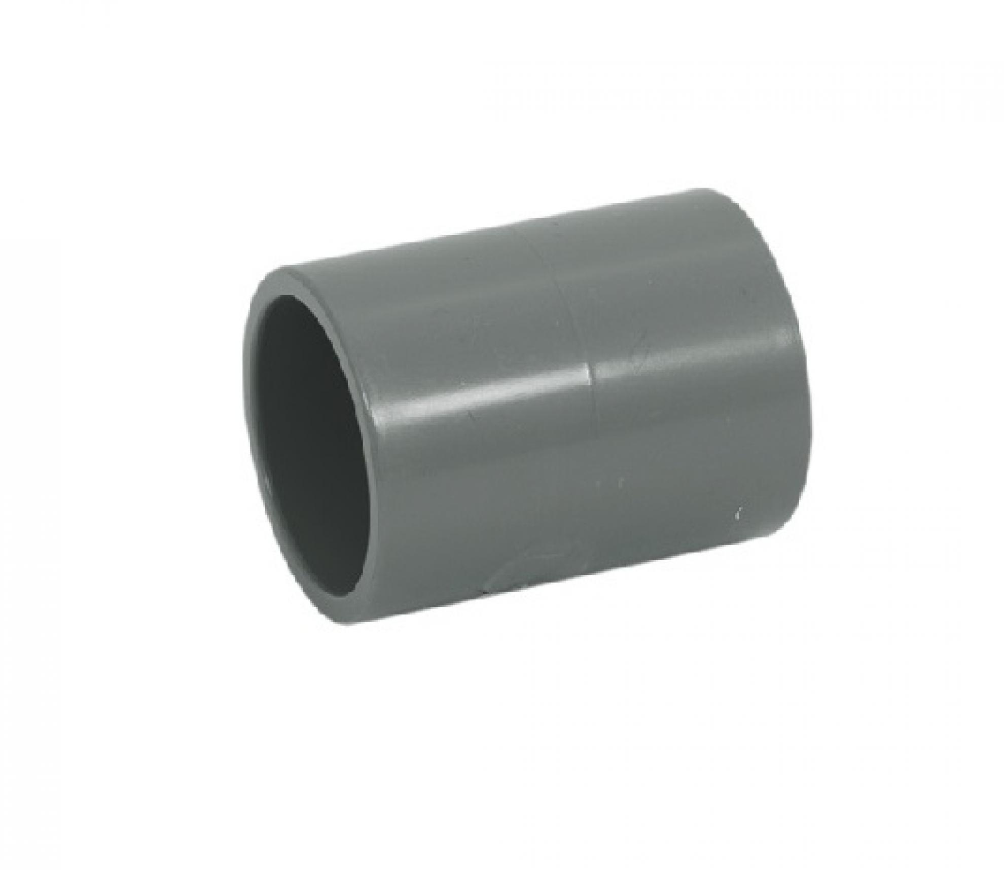 "Luva PVC 1/2"" polegada encaixe - Cinza"