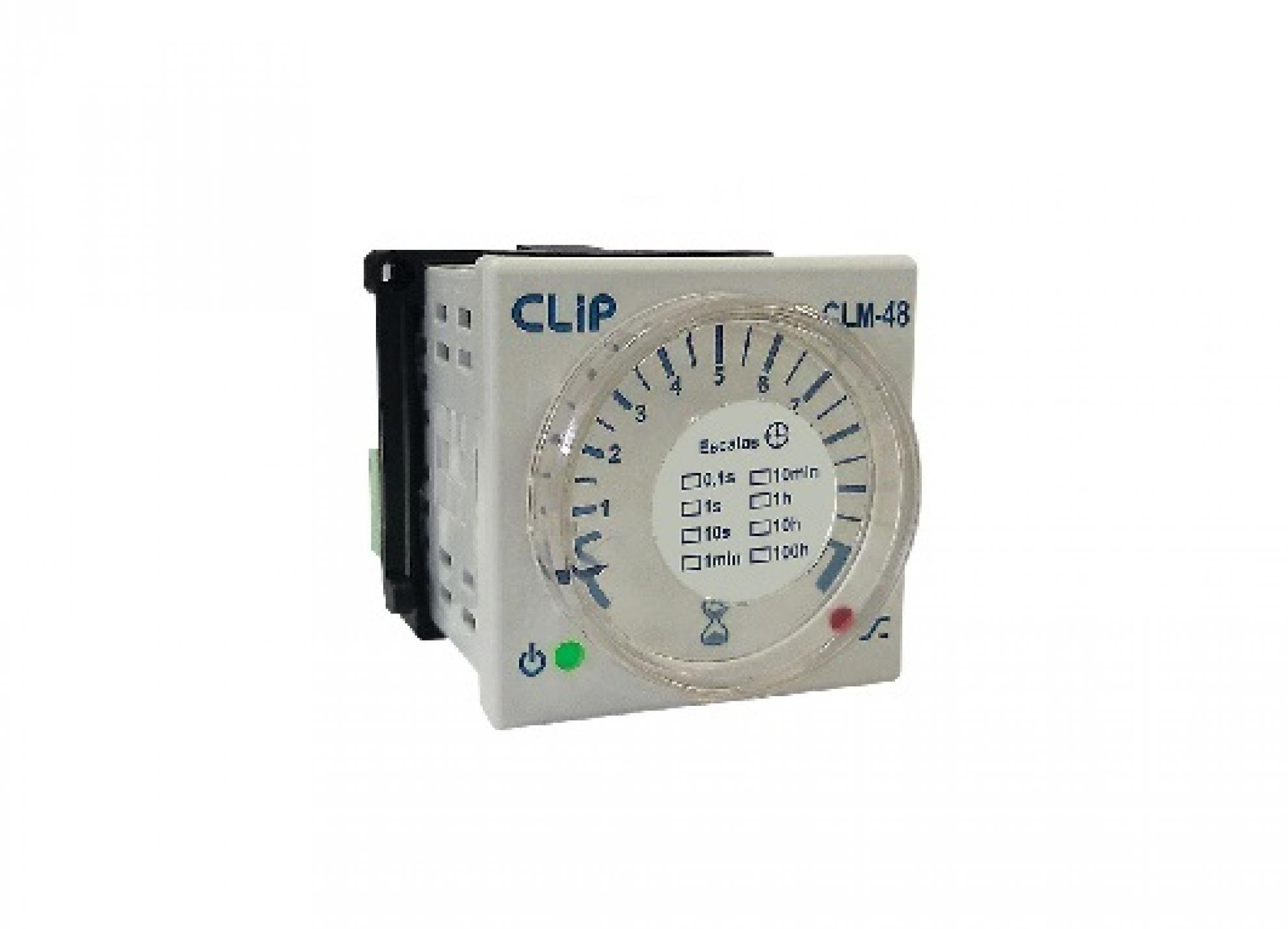 Rele tempo 0 a 100H 24-242 VCA/VCC